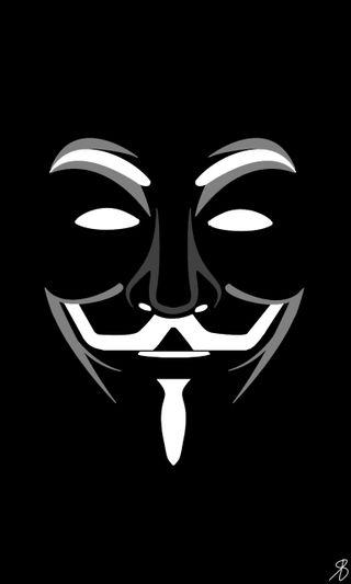 Обои на телефон анонимус, черные, темные, simplistic, project anonymous