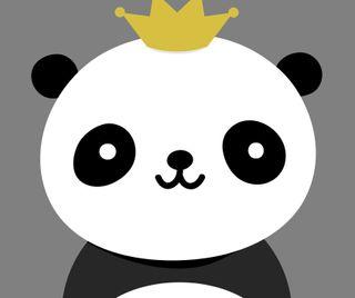 Обои на телефон панда, мультики, король, векторные, panda king