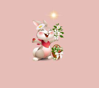 Обои на телефон кролики, счастливые, животные, дизайн, happy rabbit 2, happy