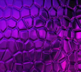 Обои на телефон мозаика, фиолетовые, стекло, абстрактные