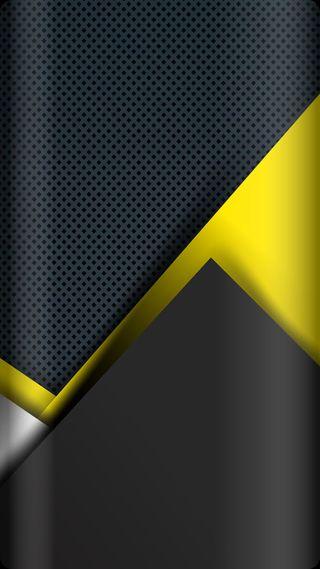 Обои на телефон треугольники, черные, серые, металл, желтые, грани, абстрактные, s8, s7