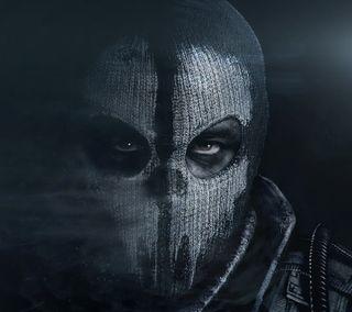 Обои на телефон black oops, cod, call of duty ghosts, черные, игра, супер, герой, маска, глаза, бой, тень, призрак, враг