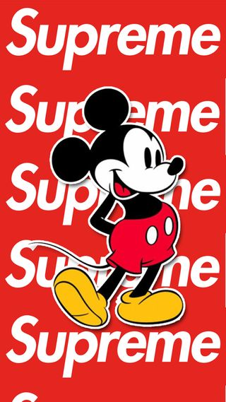 Обои на телефон микки, маус, логотипы, крутые, supreme, hd, dope, 2018