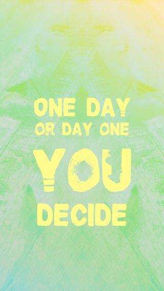 Обои на телефон свежие, цитата, ты, поговорка, лето, зеленые, желтые, день, one day or day one