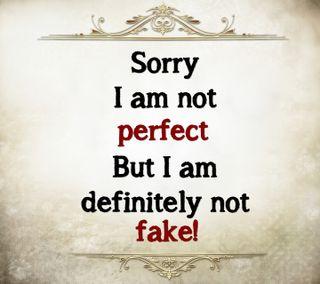 Обои на телефон цитата, поговорка, новый, крутые, знаки, жизнь, sorry, perfect and fake, perfect, fake