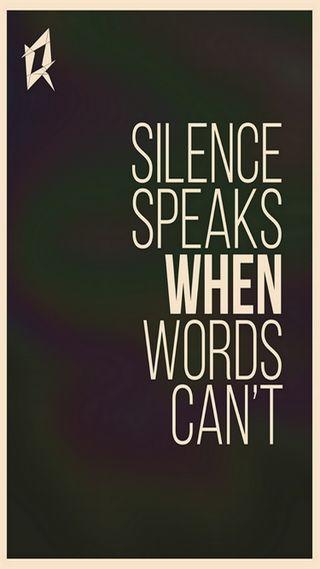 Обои на телефон тишина, слова, speak