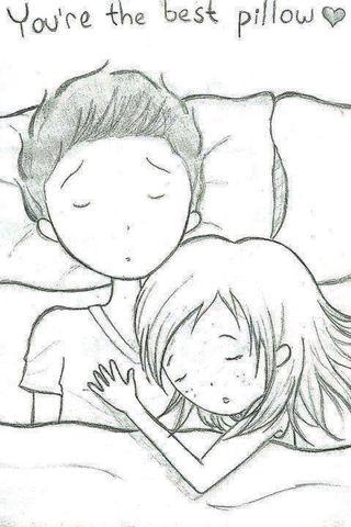 Обои на телефон мой, пара, милые, любовь, лучшие, pillow, my best pillow, love