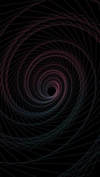 Обои на телефон спираль, черные, свежий, простые, минимализм, математика, линии, геометрия, spiraling lines, hd