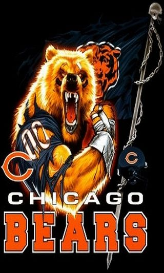 Обои на телефон чикаго, футбол, спортивные, спорт, медведи, команда, nfl, chicago bears