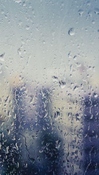 Обои на телефон окно, мокрые, капли, дождь