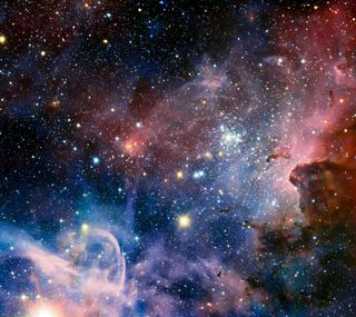 Обои на телефон туманность, солнце, облака, космос, звезды, галактика, galaxy