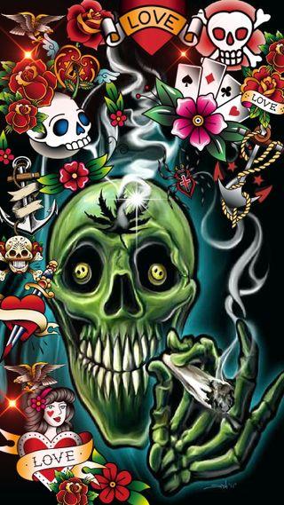 Обои на телефон сахар, череп, сигареты, сердце, мечи, мертвый, любовь, дым, smokin, refer, love, joint
