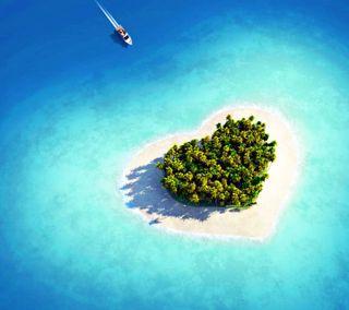 Обои на телефон корабли, остров, океан, море, любовь, дерево, love island, love, hd