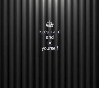 Обои на телефон спокойствие, себя, поговорка, будь, be yourself