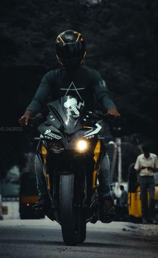 Обои на телефон рыцарь, темные, мотоциклы, девушки, байк, авто, rs200, motor, bikewallpaper