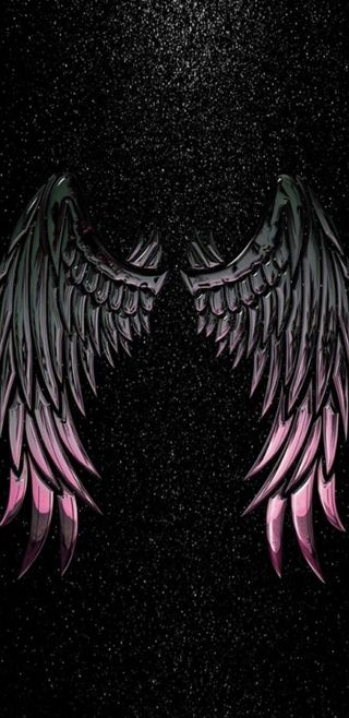 Обои на телефон крылья, симпатичные, розовые, ночь, девчачие, блестящие, ангел, angel by night
