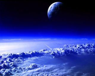 Обои на телефон планеты, синие, облака, космос, внешний, outer space planets, blue clouds