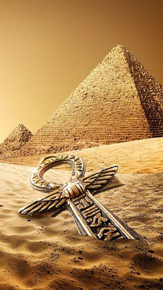 Обои на телефон пустыня, пирамида, песок, знаки, египет, egyot
