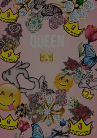 Обои на телефон эмоджи, темы, розовые, привет, крылья, корона, королева, hello