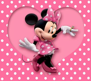 Обои на телефон точки, розовые, минни, милые, маус, polka dots