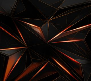 Обои на телефон черные, оранжевые, абстрактные, shard