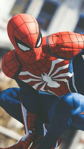 Обои на телефон пс4, паук, spider-man ps4