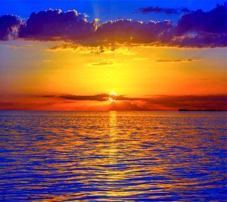 Обои на телефон солнце, море, закат, sunset the sea