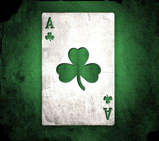 Обои на телефон poker card, shamrock card ace, туз, карты, ирландские, ирландия, покер, трилистник