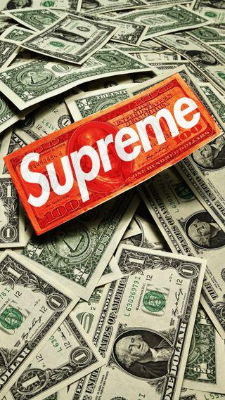 Обои на телефон деньги, supreme cash, supreme