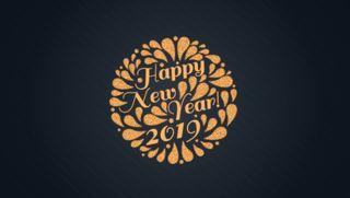 Обои на телефон празднование, счастливые, оранжевые, новый, дизайн, год, new year 2019, happy, 2019