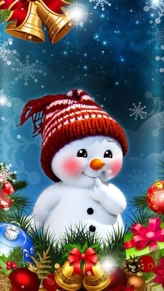 Обои на телефон bells, hd, синие, рождество, зима, снег, исус, снеговик, каникулы, снежинки