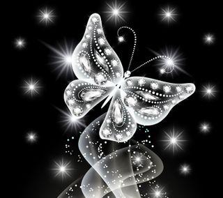 Обои на телефон бриллиант, светящиеся, неоновые, бабочки