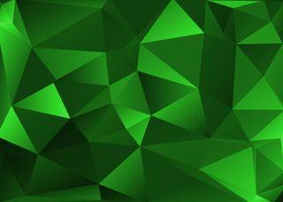 Обои на телефон многоугольник, крутые, зеленые