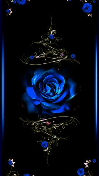 Обои на телефон оригинальные, синие, розы