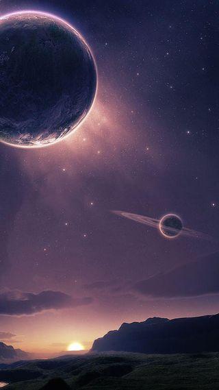Обои на телефон туманность, планета, ночь, небо, космос, звезды, галактика, galaxy