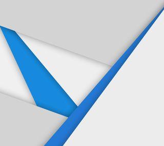 Обои на телефон синие, материал, дизайн, гугл, белые, абстрактные, google