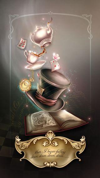 Обои на телефон шляпа, карты, фантазия, магия, книга, ведьма, арт, art
