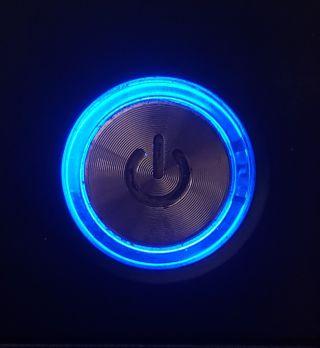 Обои на телефон изображения, яркие, темные, синие, свет, неоновые, кнопка, power button, power, contrast, bright light