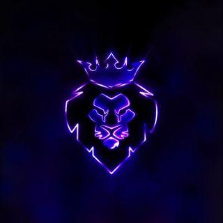 Обои на телефон прайд, фиолетовые, сверкающие, лев, lion pride