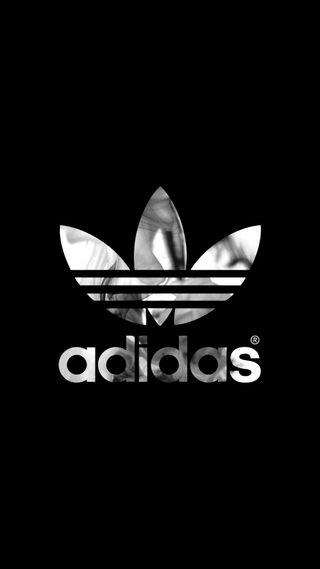 Обои на телефон чернила, черные, дым, адидас, adidas