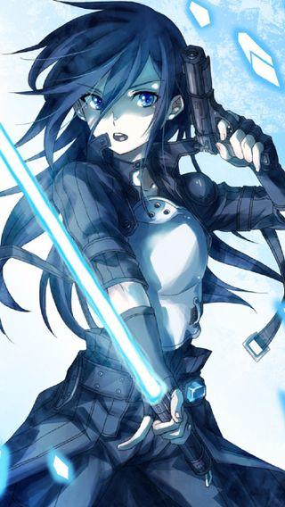 Обои на телефон онлайн, меч, кирито, арт, sword art online 2, art