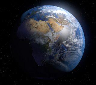 Обои на телефон планета, космос, земля, дом