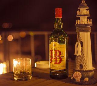 Обои на телефон фотография, стандартные, виски, бутылка, боке, viski, hd, 4k