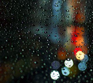 Обои на телефон капли, дождь