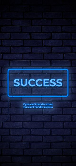 Обои на телефон успех, экран блокировки, цитата, свет, неоновые, stress