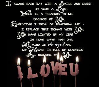 Обои на телефон свеча, чувства, ты, сердце, свет, романтика, любовь, высказывания, ove, i love you