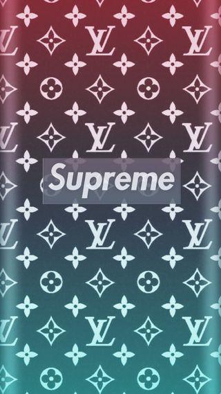 Обои на телефон черные, луи витон, supreme lv, supreme