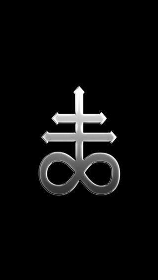 Обои на телефон религиозные, черные, символ, минимализм, крест, амолед, satanic, leviathon, amoled, 929