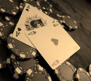 Обои на телефон покер, карты
