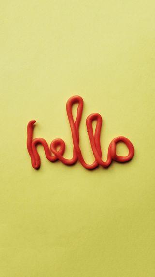 Обои на телефон цветные, типография, тип, текст, простые, привет, желтые, mellow yellow hello, hello, caly